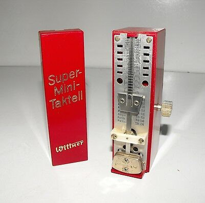 Vintage Wittner Super Mini Taktell Pendulum Metronome GWO Made In West Germany