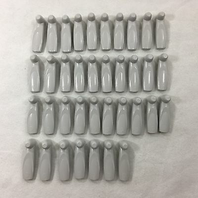 37 EAS Security Magnetic Tags With Pins Attached Long Slim Anti-Theft White