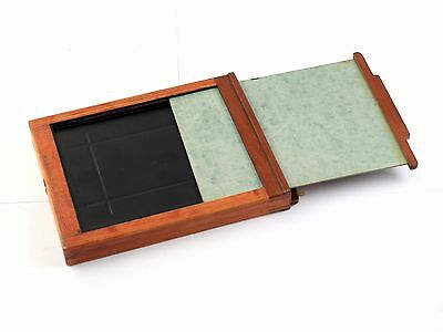 187231 Vintage 4x5 Wood Holder for Glass Plates