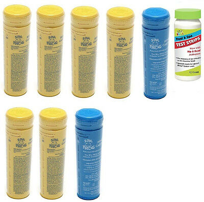 Spa Frog Kit 8 pack 6 Bromine & 2 Mineral w/Test Strips PRIORITY MAIL SHIPPING