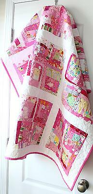 WONKY BLOCKS ~ New Handmade Baby Girl Quilt