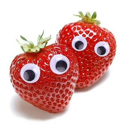 200 X 10mm WIBBLY  WOBBLY GOOGLY EYES. CRAFTS, PLASTIC, STICKERS SELF ADHESIVE