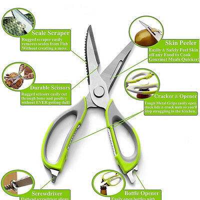 UK Multifunction Kitchen Scissors Fish Cutter Chicken Shears Cooking Gadget