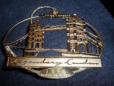 "Longaberger RARE ORNAMENT FROM ""1998 LONDON INCENTIVE TRIP"", NEW!!!"