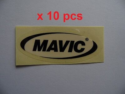 """MAXXIS 3.5/"""" x 1/"""" black and red on white background indoor sticker x 10pcs"""