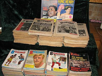 Boxing Magazine Collection 1960's & 1970's, 600 issues.  Huge job lot. Ali.