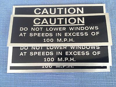 Ford Xw Xy Gt Gtho Gs Window 100 Mph Caution Decal Sticker 351 302 393 408 New