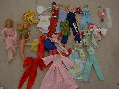 Vintage Barbie Doll Lot 2 dolls and clothing