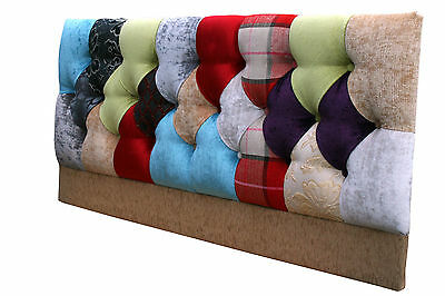 Patchwork Deep buttoned headboard All sizes