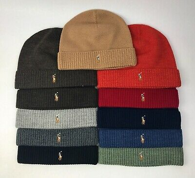Polo Ralph Lauren Merino Wool Knit Beanie Hat, One Size $45 - NWT - You Pick!