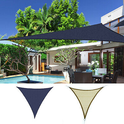 Outsunny Triangle 18' Sun Sail Shade Patio Shelter Canopy Outdoor Party Cover