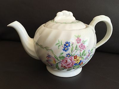 Vintage Art Deco Royal Staffordshire Ceramics Clarice Cliff Bone China Teapot