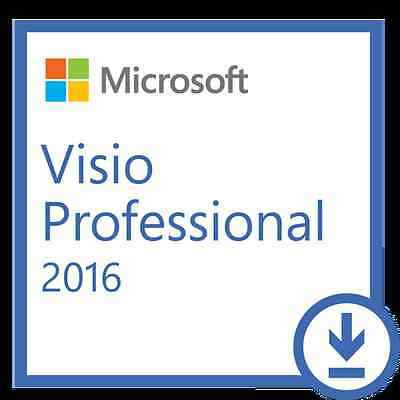 Microsoft Visio 2016 Professional or PC Online Retail Download Fast Email Sent