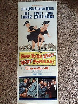 "Vintage Original Movie Poster ""How to be Very Very Popular"" Betty Grable 1955"