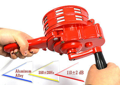 Handheld Loud Hand Crank Operated Air Raid Alarm Portable Siren metal shell
