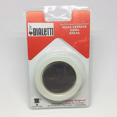 Bialetti Gasket & Filter Replacement Set - Fits 9 Cup Moka Express