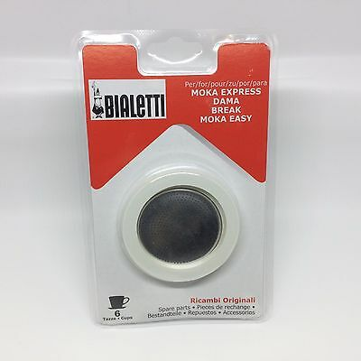 Bialetti Gasket & Filter Replacement Set - Fits 6 Cup Moka Express