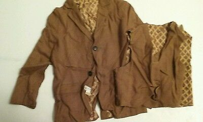 boys vintage jacket c1950s w/ vest sports coat great for photo shoot childrens