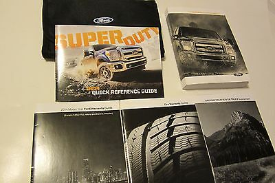 Ford F250 F-250 F350 F450 2014 Super Duty Owners Manual Complete With Ford Case