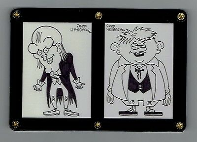 Uncle Creepy And Cousin Eerie Original Art Sketch Card Fred Hembeck