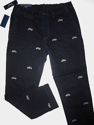 POLO RALPH LAUREN men's Straight-Fit MOTORCYCLE EMBROIDERED CHINO PANTS W36x30L