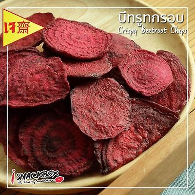 Crisy Freeze Dried Beet Root Healthy Snack Thai Fruit Food Natural Delicious