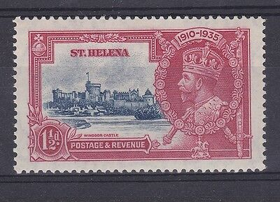 DB387) St. Helena 1935 Jubilee 1.5d deep blue & scarlet SG 124 with variety