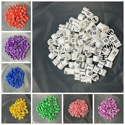 100Pcs Plastic Size Marker Tags Home Hanger Sizer Garment Markers Useful
