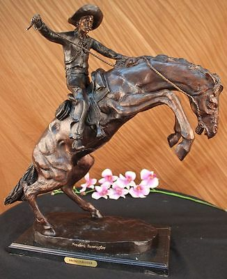 Bronze Sculpture White House Oval Office Bronco Buster by Remington Hot Cast UG