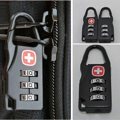 High 3 Digit Mini code Metal Combination Travel Luggage Lock Padlock Password *X