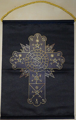 Rosicrucian Cross Wimpel  (Rose Cross) Gold Edition