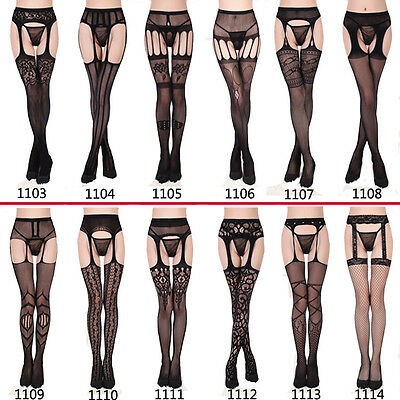 High Quality Stretchy Fishnet Sheer Lace Top Stay Up Thigh High Stockings