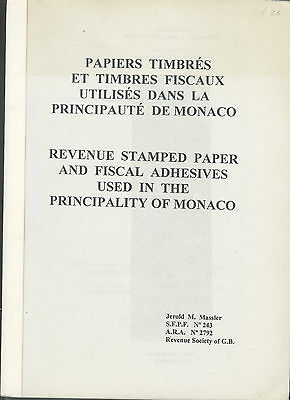 Monaco revenue stamped paper and fiscal adhesives of monaco. 1996.  B292