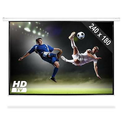 "PRESENTATION AV PROJECTION SCREEN HDTV 120"" w. REMOTE *FREE P&P SPECIAL OFFER"