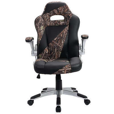 High Back PU Leather Executive Office Desk Task Computer Chair Green Camo New