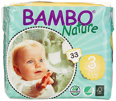 Bambo Nature Maxi Baby Diapers, Size 3 , 198