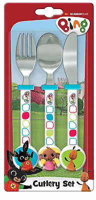 Bing | Flop | Sula 3pc Mealtime Cutlery Set includes Knife, Fork & Spoon