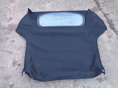 Genuine Mgf  Mgtf Le500 - Black Convertible Soft Top Hood - With Heated Glass