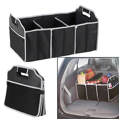 Automotive Collapsible Folding Flat Trunk Organizer for Picnic Car SUV Flowery