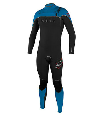 O'Neill Psycho One 5/4mm Chest Zip Winter Wetsuit Black Blue Red  Male