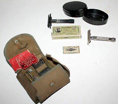 MILITARIA RASOIRS COLLECTION LOT DE 3 RASOIRS ANCIENS . VALET  US ARMY etc ....