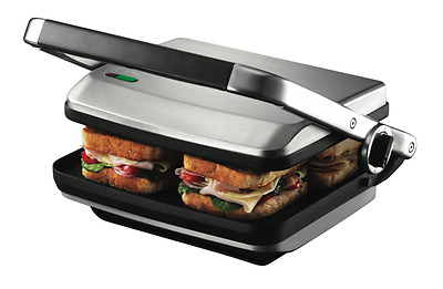 Sunbeam 2400W Cafe Press Sandwich Maker Brushed Stainless Steel Capacity 4 Slice