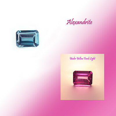 10.50 Cts Beautiful Lab Created Alexandrite Gem With Twinkling Colour Change