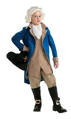 Brand New George Washington Deluxe Child Halloween Costume 12-14