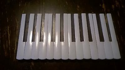Accordion Key Tops Keytops Lot of 14,Used,13,3 cm long,1.8cm Wide,For Parts