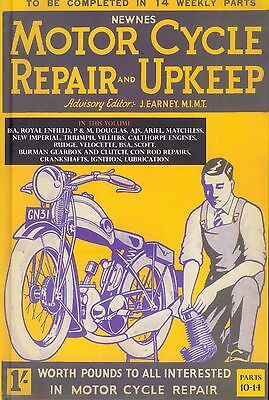 Motorcycle Repair & Upkeep Manual 1930 Vol 3 BSA AJS Triumph Matchless etc Book