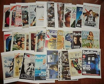 Thirty Radio Times Cover Postcards -  Doctor Who Olympics TV Celebs & Programmes