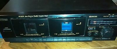 TEAC W-505R Auto Reverse Double Cassette Deck Tape Player Dolby - TESTED