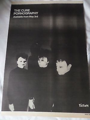 "The Cure ""pornography"" 1982  Advert Full Page  Fiction Label Advert"