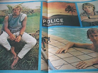 The Police Double Page Magazine Poster 1980`s 1981 The Police In Montserrat